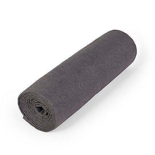 nu:ju® Serviette de sport/fitness, serviette de voyage en microfibres argent ionisé, 1 grand lot (100 x 180 cm) avec sac fourni. Légèreté - absorbant - résistant - lavable jusqu'à 95