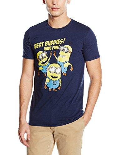 Beats & More Minions-Best Buddies Have Fan T-Shirt, Bleu (Blau), Medium Homme