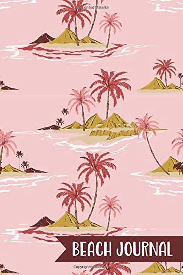 見落とす一過性カビBeach Journal: Summer Travel Journal | Beach Quotes | Blank Lined Notebook To Write In | Pink Island Pattern
