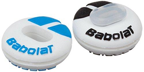 Babolat Custom Damp X2 Amortiguador de vibración de Tenis, Unisex Adulto, Blanco/Azul, Talla Única