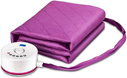 CDFC verwarmingsdeken, plomberie-deken, verwarmingsdeken, dubbele veiligheid, niet radiatief, met afstandsbediening en touchscreen met deuk, violet