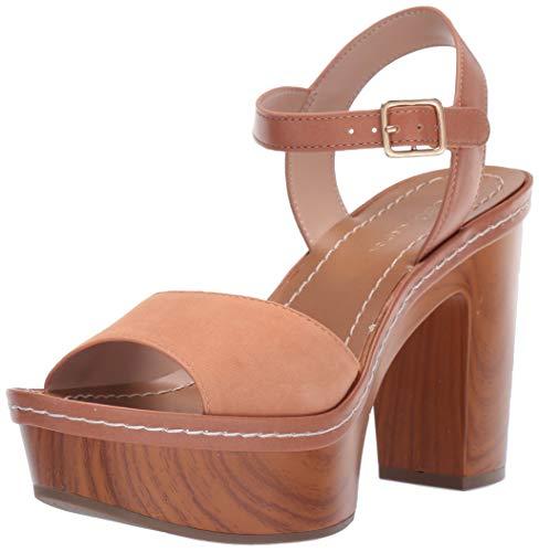 BCBGeneration Women's Zina Platform Sandal Wedge, Toasted Apricot, 9.5 M US