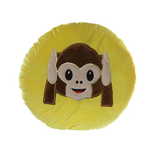 Plüsch Kissen Affe 25cm Smiley Emoji Deko Emotion Dekokissen Kuschelkissen