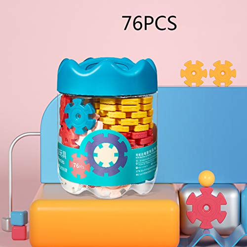 Jouets éducatifs de flocon de neige, blocs de construction plug-in pour épaissir les jouets d'assemblage intellectuel de bébé de 1 à 3 ans, blocs de jouets éducatifs de flocon de neige de 8 mm d'épa