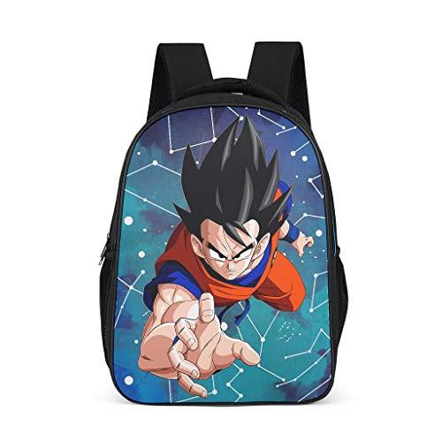 CCL88 Anime Bedrukte Rugzak Casual Stijl - Draak-Bal Slanke College Tassen Goku Pak Patroon Boek Tassen Wandelen Gebruik voor Middelbare School Studenten