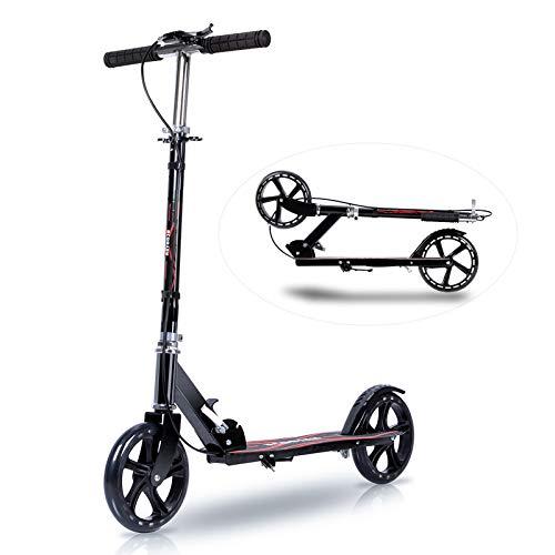 キックボード キックスクーター 子供 大人用 折り畳み式 軽量 3段階調節 立ち乗り式二輪車 持ち運び便利 フット/ハンドブレーキ 20CMビッグタイヤ アルミニウム製