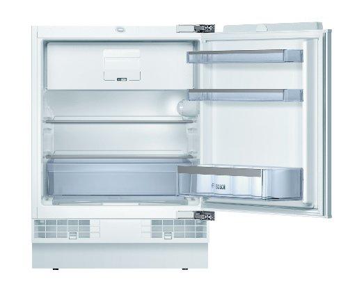 Bosch KUL15A65 Serie 6 Unterbau-Kühlschrank mit Gefrierschrank / A++ / 82 cm Nischenhöhe / 140 kWh/Jahr / 123 L / MultiBox / SafetyGlass
