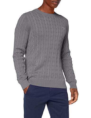 GANT Cotton Cable C-Neck Suéter para Hombre