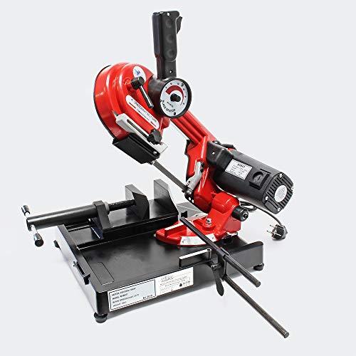 Sierra de cinta portátil para metal 1500W Velocidad 20-70m min Profundidad de corte 105mm Ingletes