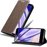 Cadorabo Hülle für Sony Xperia L3 in Kaffee BRAUN – Handyhülle mit Magnetverschluss, Standfunktion & Kartenfach – Hülle Cover Schutzhülle Etui Tasche Book Klapp Style