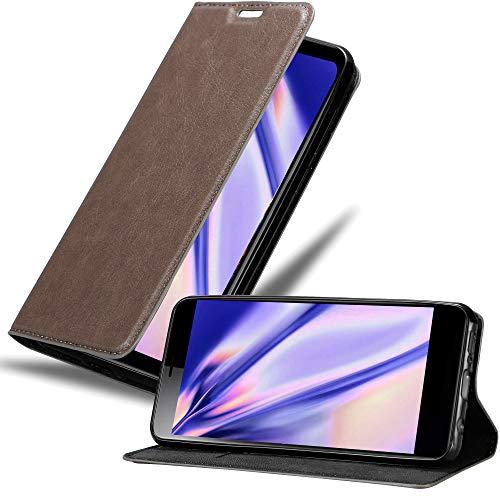 Cadorabo Hülle für Sony Xperia L3 in Kaffee BRAUN - Handyhülle mit Magnetverschluss, Standfunktion & Kartenfach - Hülle Cover Schutzhülle Etui Tasche Book Klapp Style