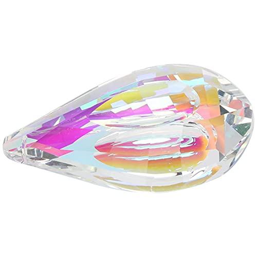 Ornamento de lustre, requintado e bonito pingente de cristal colorido de 76 mm Pingente de cristal seguro e ecológico para casa para o escritório