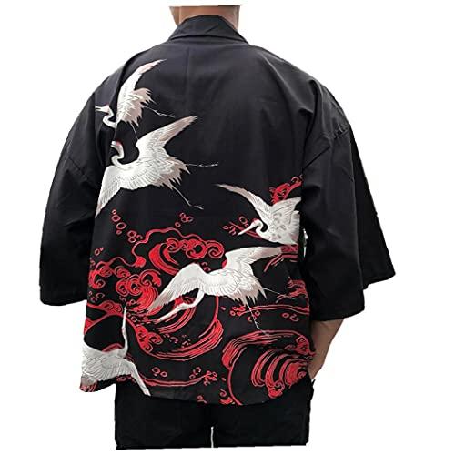Kimonos Man Kvinna 2021 Japanska Kimono Cardigan Cosplay skjorta blus för kvinnor japanska Yukata Kvinna Summer Beach Kimono, Män Skjortor