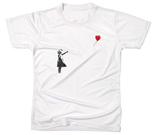 Banksy meisje hart ballon mannen T-Shirt