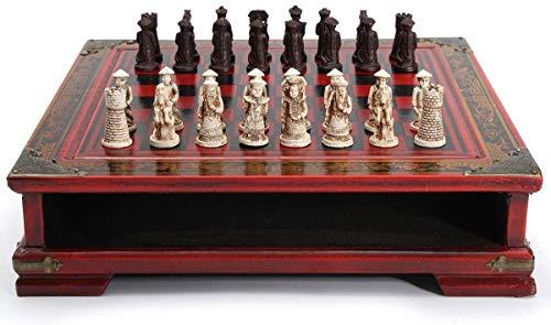 Noseeyou Schach Holz Schachbrett Kreative Antike Qingbing Charakter Carving Chinesische Art Charakteristika Weihnachten Geburtstag Geschenk-Entertainment-Brettspiel