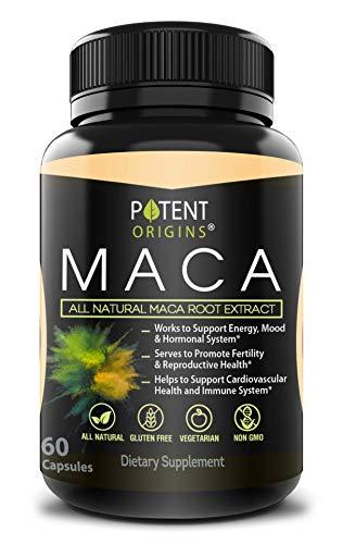 100% Natural Maca Extract 750mg – 60 Capsules...