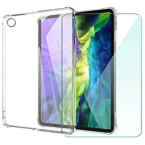 WANCJX Transparente Tablet Funda Compatible para Lenovo Tab M10 HD 2nd Gen (10.10 Pulgada) Carcasa + [1 Pieza] Cristal Templado Film,Antigolpes Caso Cover,HD Cristal Templado Membrana-TM