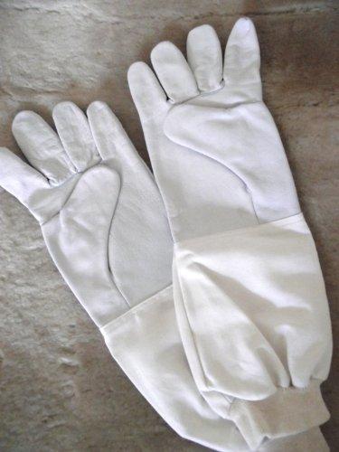 Top Imkerhandschuhe, Schaf- und Lamm-Nappahandschuhe für Imker - gutes Tastgefühl - Größe 8 - extra lange Stulpe