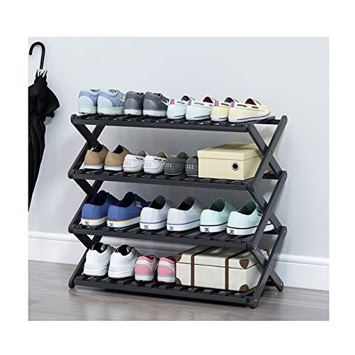 LYLY Zapatero Zapato de bambú Pasquillo Plegable Instalación Gratuita Estante de Zapatos Organizador de Almacenamiento de Zapatos para entradas Inicio Sala de Estar Balcón Estante de Zapatos
