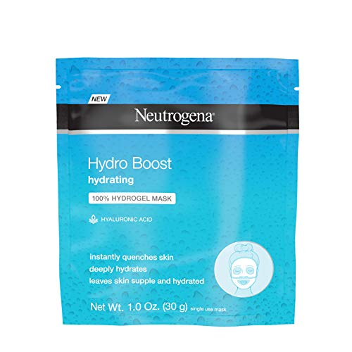 Neutrogena Hydro Boost Moisturizing & Hydrating 100% Hydrogel Sheet Mask, Face Mask for Dry Skin with Hyaluronic Acid, Gentle & Non-Comedogenic, 1 oz (Pack of 12)