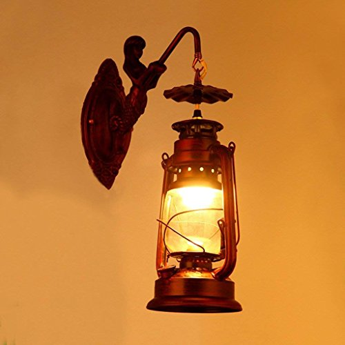 DSJ Europese stijl retro Middellandse Zee-ijzeren wandlampen paarden lichten woonkamer lichten gang bar bar lampen