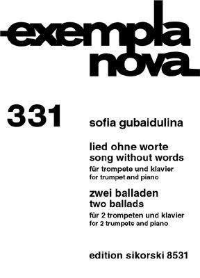 Lied zonder woorden: voor trompet en piano 2 balladen: voor 2 trompetten en piano