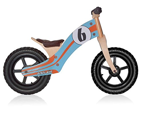 Rebel Kidz-Draisienne Enfant Rebel Kids Le Mans Bois Bleu Orange-Vélos Complets
