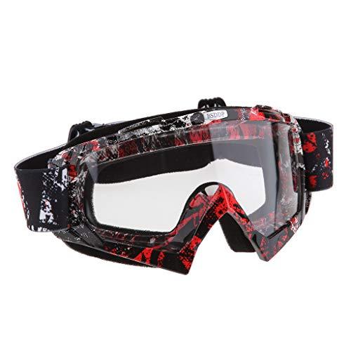 Mascherina Occhiali Motocross Enduro Sci Snowboard Antivento Antipolvere Antigraffio - A018 Specchio bianco