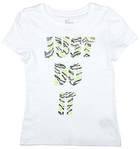 Nike Big Girls' (7-16) Just Do It Tiger T-Shirt-White-Medium