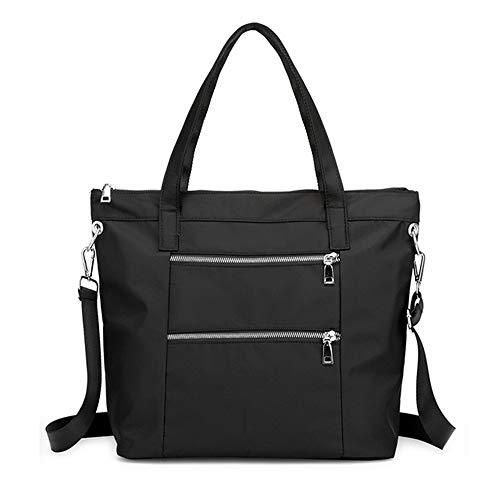 Sac à bandoulière tendance, sac de voyage, sac à main multipoches pour femme, noir (noir), Large