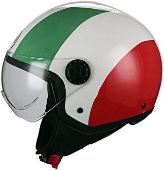 Bhr Demi Jet Motorradhelm Modell One 801 Farbe Italienische Flagge GrÖße Xs Auto