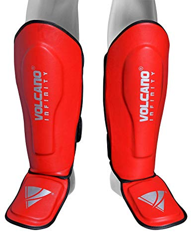 Islander Moden Thai-Boxen Schienbeinschoner Bein Rist Pads MMA Fu�schoner Kick Boxing Protector Red One Size