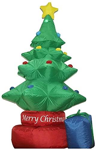 wsbdking Decoración de Navidad rotando el árbol de Navidad con DIRIGIÓ Navidad Inflable 210cm de Altura decoración estacional al Aire Libre Airblown Adorno de jardín Regalo