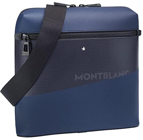 Montblanc MB Extreme 2.0 Evelope wPrint Bl/BK Borsa, Nero/Blu, Taglia Unica Unisex-Adulto