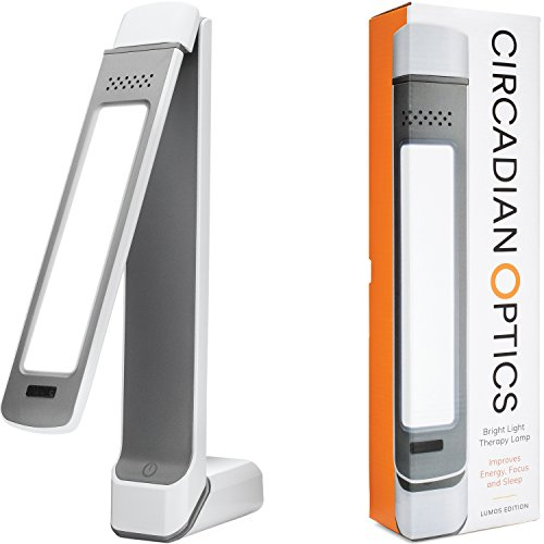 Circadian Optics Lumos 2.0 Light Therapy Lamp | As Seen On Shark Tank | 10,000 LUX Ultra Bright LED | Full Spectrum UV Free | Adjustable Light Panel | Turn On Your Day
