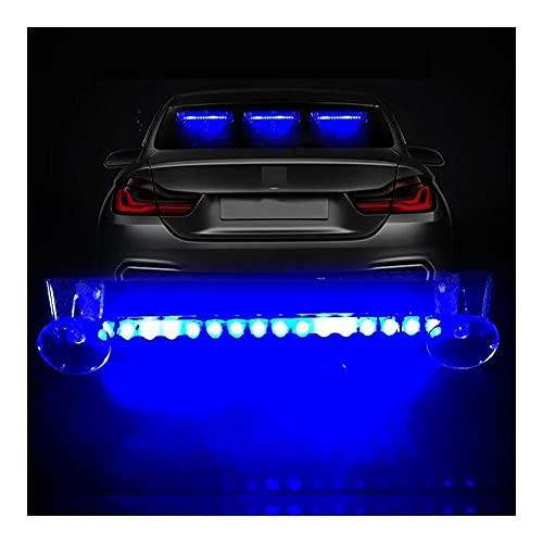 1 PC DIRIGIÓ Coche inalámbrico DIRIGIÓ Luces de Alarma Coche Solar Flashing Luz de Advertencia Auto Super Brillante Colorido Universal Decoración de Interiores (Emitting Color : White)