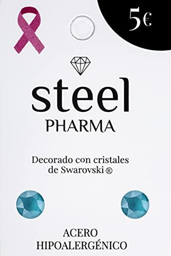 Pendientes de acero hipoalergénico con cristales de Swarovski mod. Lacquer Azure 5008