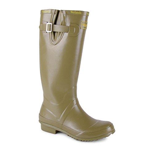 Footwear Sensation, Stivali di Gomma Donna, Verde (Cachi), 37.5