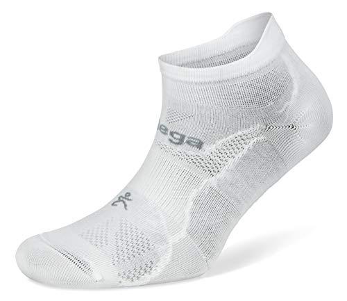 Balega Hidden Dry Moisture-Wicking Socks for Men and Women (1 Pair),White, Medium