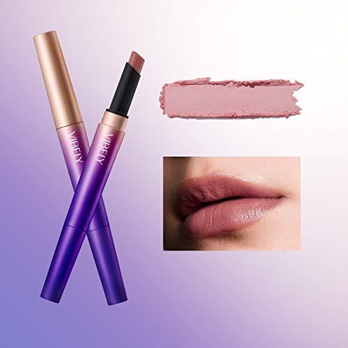 Mimore Lippenkonturenstift Lippenstift Pen Double-End Lange andauernd Wasserdicht Feuchtigkeitsspendend Einfach zu färben Lippenstift Bleistift Superpigment Makeup Lipmarker (3)
