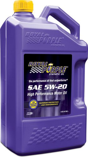 Royal Purple 54520 API-Licensed SAE 5W-20 High Performance Synthetic Motor Oil - 5 qt. (Case of 3)