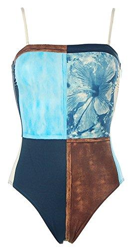 Rasurel Damen Bandeau Badeanzug Beachwear Blau 36