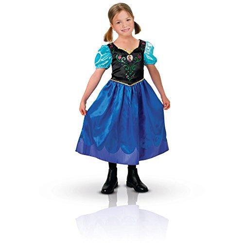 Rubie's-déguisement officiel - Disney- Costume Déguisement Classique Anna - Taille L 7-8 ans- CS889543/L
