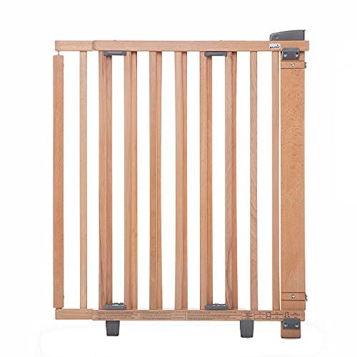 Geuther - Schwenk-Türschutzgitter 2732, für Kinder, Hunde und Katzen, Befestigung in der Tür oder vor der Tür, zum bohren, stabil, Holz, natur, 58 - 105 cm, 2732-NA
