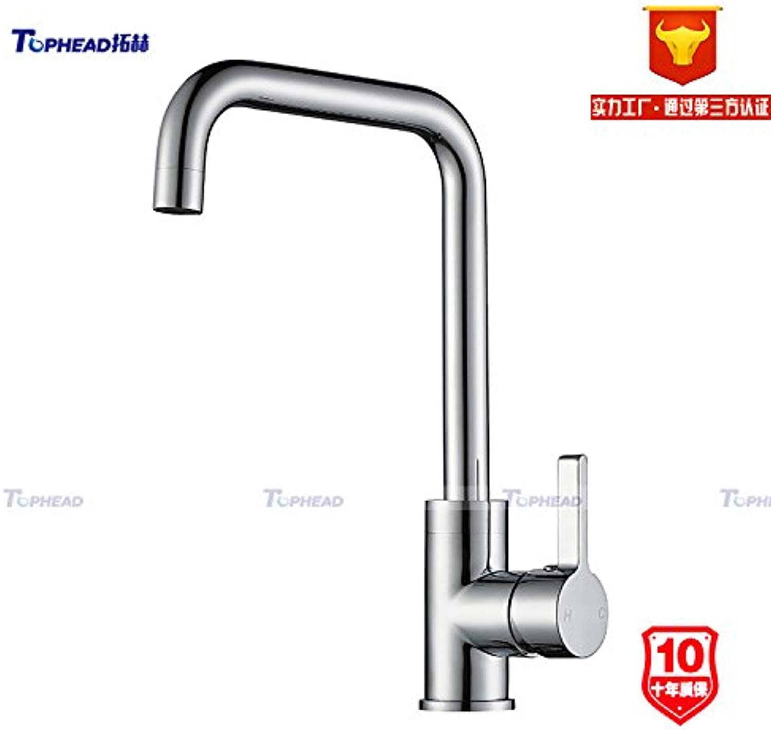 Commercial Single Lever Pull Down Kitchen Sink Faucet Brass Constructed Polished Copper Chrome Kitchen hot and Cold Sink Sink Faucet Bathroom Basin,SH003-6