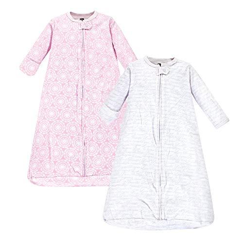 Hudson Baby unisex baby Cotton Long-Sleeve Sleeping Bag, Sack, Wearable Blanket, Script, 3-9 Month US