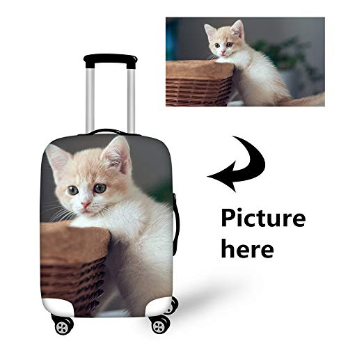 Bigcardesigns Custom Design Travel Luggage Cover Elastic Protector Suitcase Covers Personalise S Size Apply 18-22'suitcase