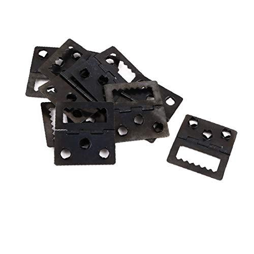 X-Dr 32mm x 20 x 5 mm Bilderrahmen hinten Scharnier Rückwandplatine Schnalle schwarz 10st (fb13b29fe4d0a8a769932249dd2098d6)