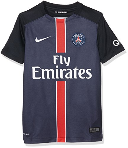 Nike Kids Paris Saint Germain 2015/2016 Home Soccer Jersey (Midnight Navy) Youth Large