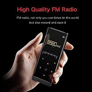SuperEye MP3 Player 16GB Bluetooth 4.1 mit Kopfhörer,1.8 Zoll TFT Bildschirm MP3 Player mit FM Radio,HiFi Lossless,MP3 Player Sport Speicher Erweiterbar bis 64 GB